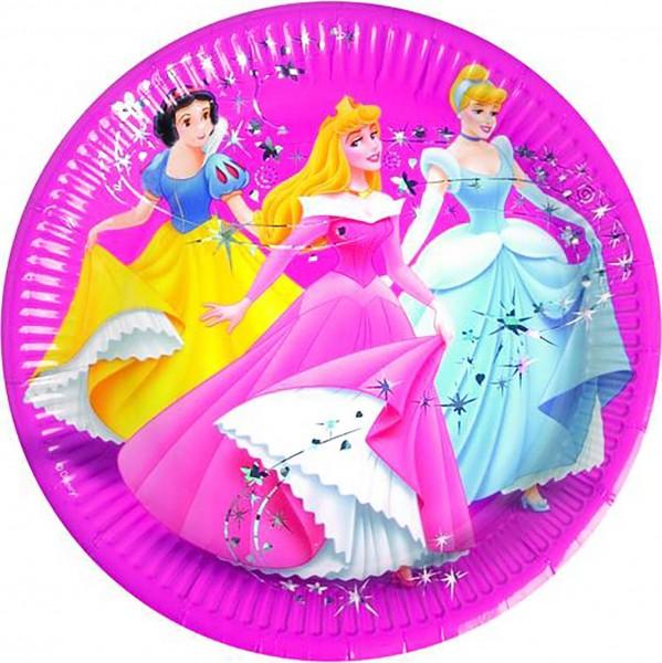 Pappteller Princess Ø 23cm 8 Stück