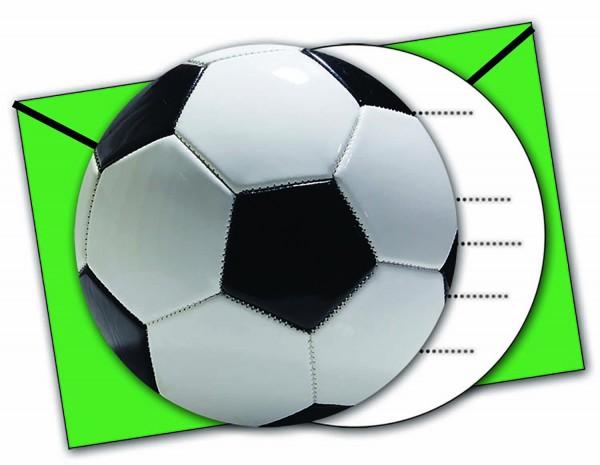 Einladungskarten Fußball 6 Stück