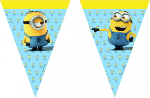 Wimpelgirlande Minions Lovely 200cm