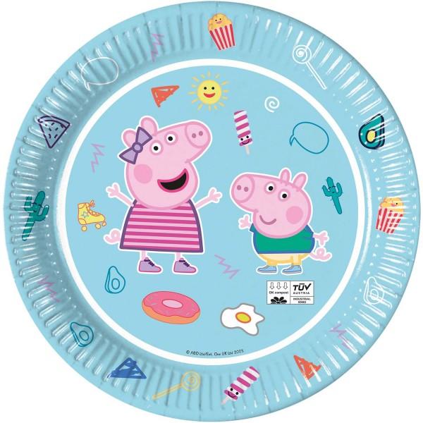 Pappteller Peppa Pig 8 Stück Ø 23cm