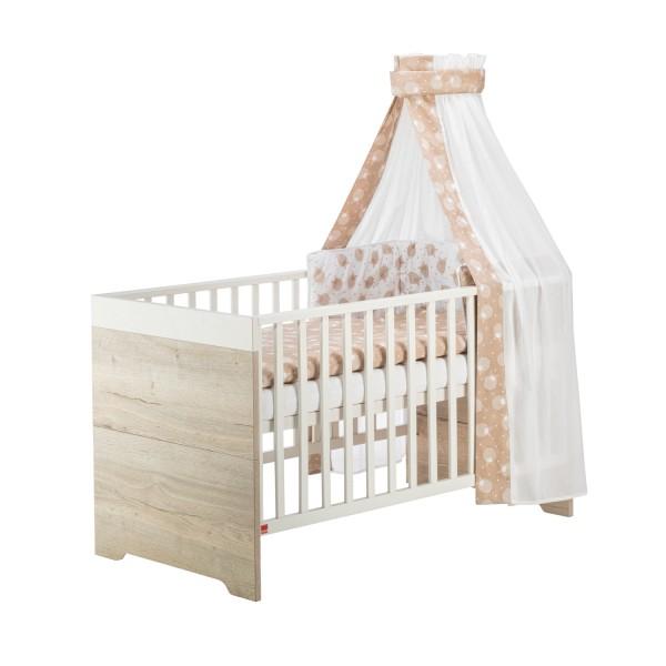 Clou Oak - Kombi-Kinderbett - Dekor Halifax Eiche - Weiß
