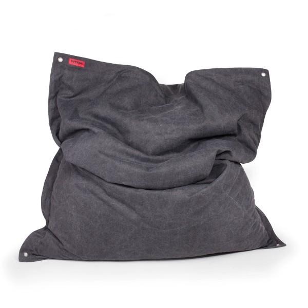 Outbag Sitzsack Meadow - Bezug Canvas Schwarz