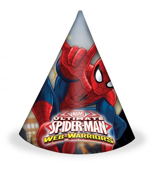 Partyhut Spiderman 6 Stück