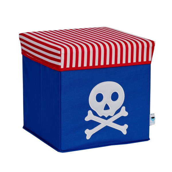 Pico Mundo - Sitzhocker Pirat - rot blau weiß