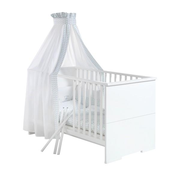 Maximo Weiß - Kombi-Kinderbett 70 x 140cm - Weiß lackiert