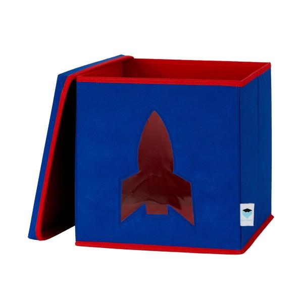 Pico Mundo - Spielzeugkiste mit Sichtfenster - Rakete - blau
