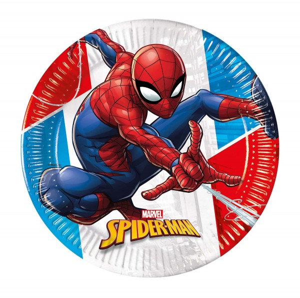 Pappteller Spiderman 8 Stück Ø 20cm