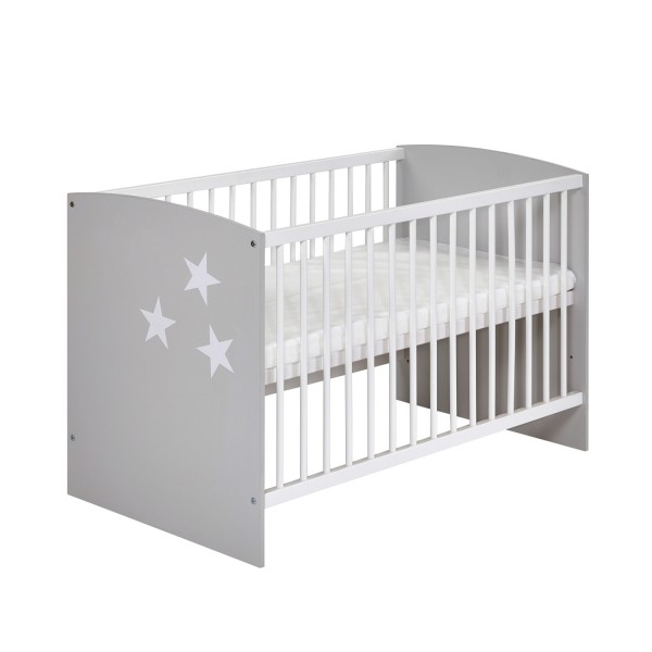 Classic Grey - Kinderbett 60 x 120 cm - Dekor Grau
