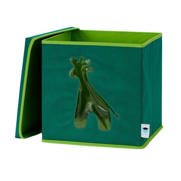 Pico Mundo - Spielzeugkiste mit Sichtfenster - Giraffe - grün