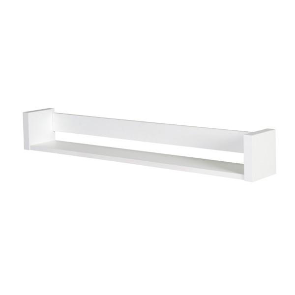 Milano Weiß - Wandbord - extra breit - Dekor weiß