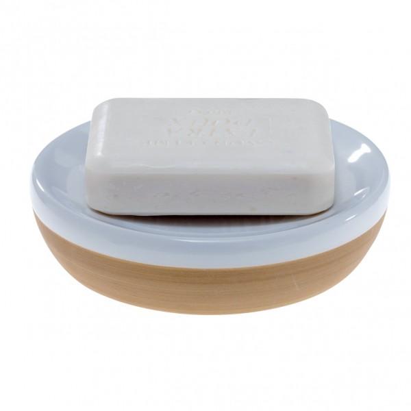 Seifenschale Siena - weiß/beige
