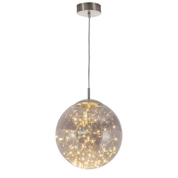 Lights - LED Pendel 1-flammig - Nickel - Glas smokey mit LED