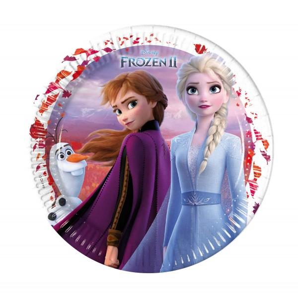 Pappteller Frozen II 8 Stück Ø 23cm