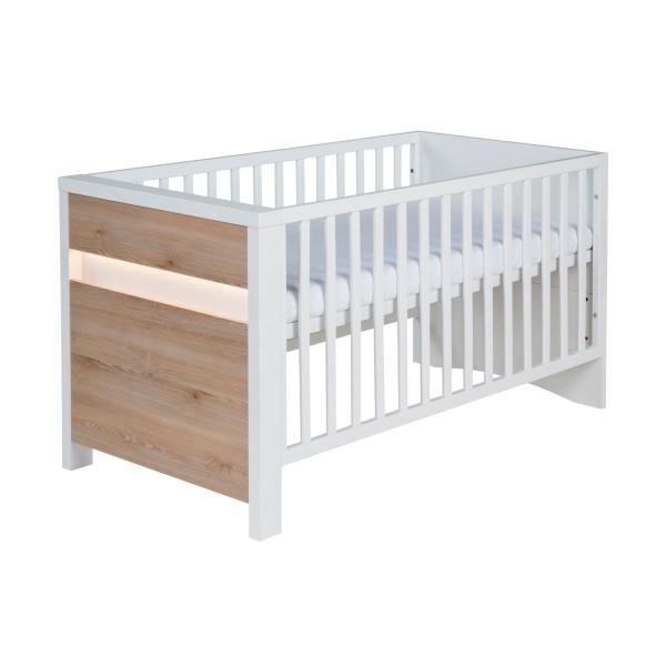 Planet Pinie - Kombi-Kinderbett 70 x 140cm - Dekor Weiß - Pinie