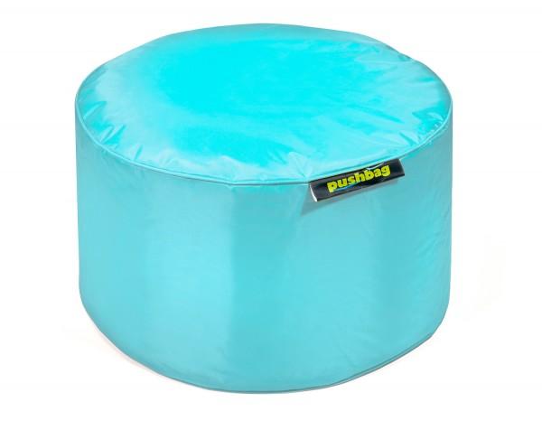 Pushbag - Sitzsack Drum - Bezug Oxford in Aqua - 50cm