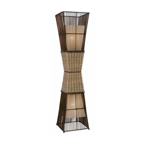Bamboo - Stehleuchte - 2-flammig - Rattan