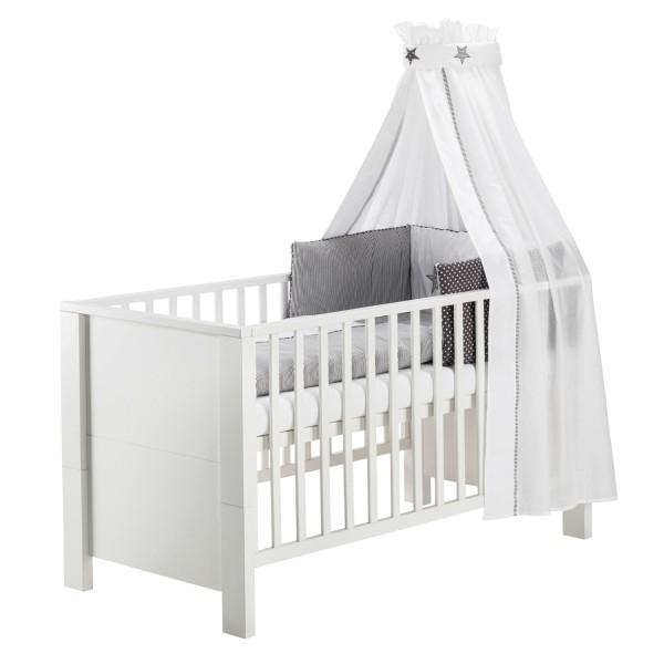Milano Weiß - Kombi-Kinderbett 70 x 140cm - Dekor Weiß