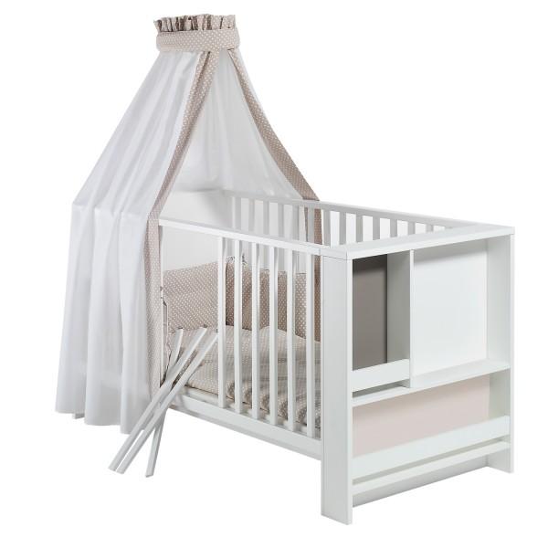 Baby Bettwäsche 4 Teiliges Set Design Pünktchen Beige Möbel