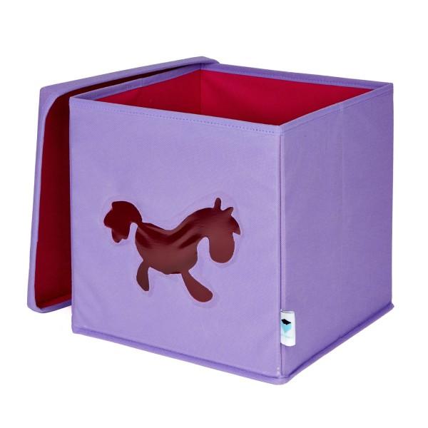 Pico Mundo - Spielzeugkiste mit Sichtfenster - Pony - flieder