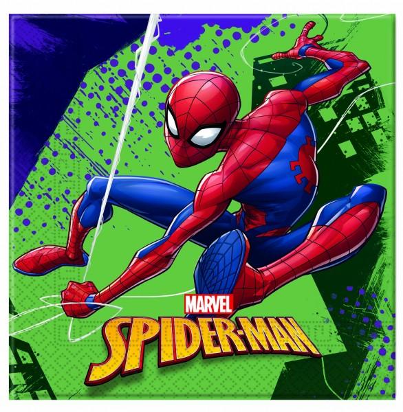 Servietten Spiderman 20 Stück 33 x 33cm