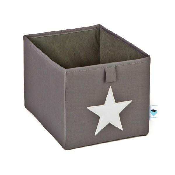 Pico Mundo - kleine Ordnungsbox - grau mit weißem Stern