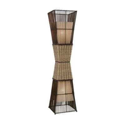 Nino Stehleuchte Bamboo Stehlampe Rattan   Möbel Stellbrink