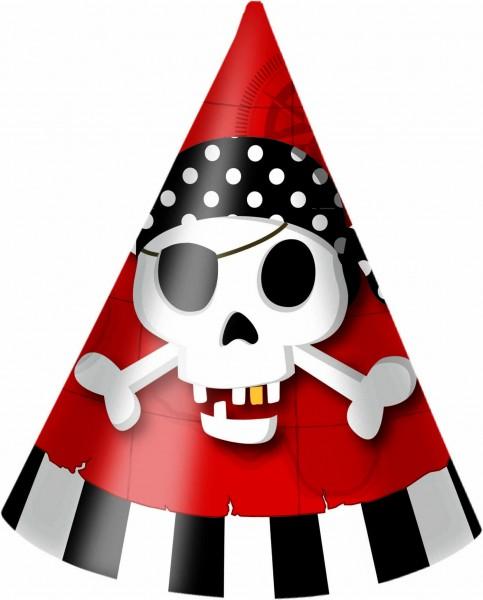 Partyhut Piraten 6 Stück