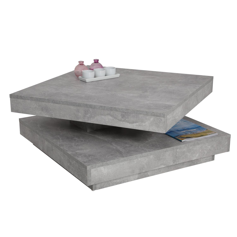 Couchtisch Ben Betonoptik Tischplatte Drehbar Mobel Stellbrink
