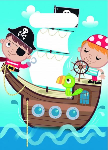 Geschenktüte Piraten 6 Stück