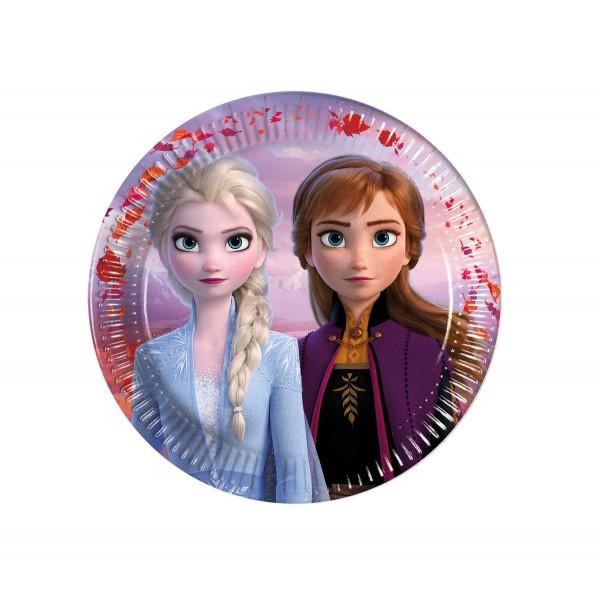 Pappteller Frozen II 8 Stück Ø 16cm
