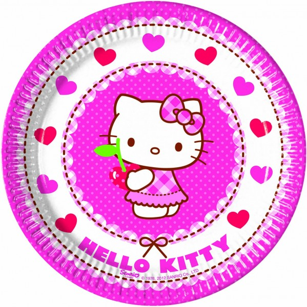 Pappteller Hello Kitty 8 Stück Ø 20cm