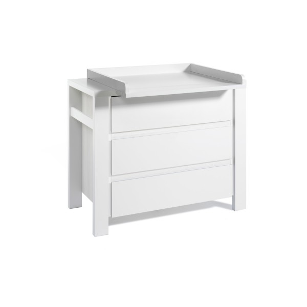Milano Weiß - Wickelkommode - Weiß lackiert