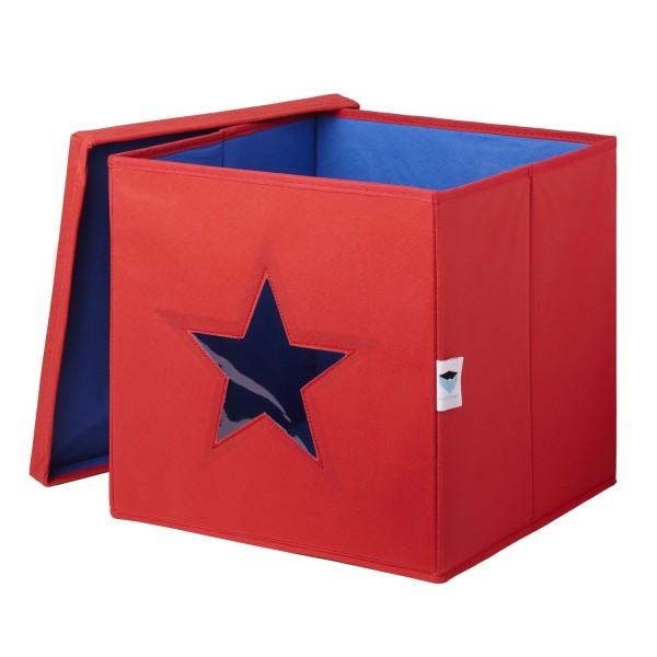 Pico Mundo - Spielzeugkiste mit Sichtfenster - Stern - rot