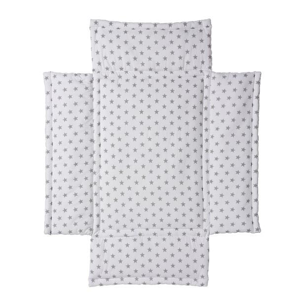 Laufgittereinlage 75 x 100 - Baumwolle mit weicher Füllung - Design Big Stars grey