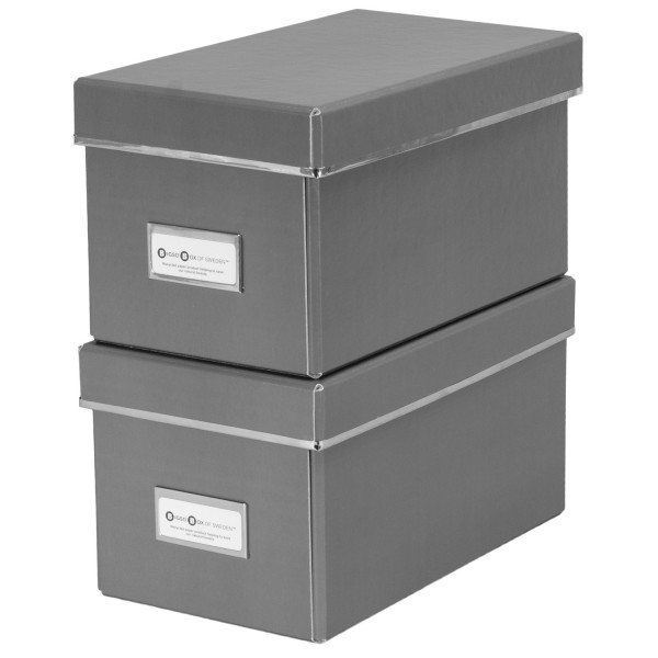 2er Set CD Box - Elsa - grau