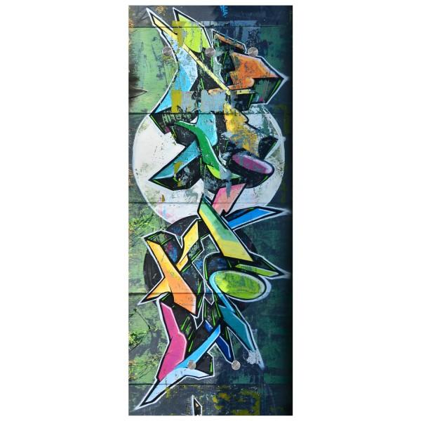 Wandgarderobe aus Glas - Motiv: Graffiti