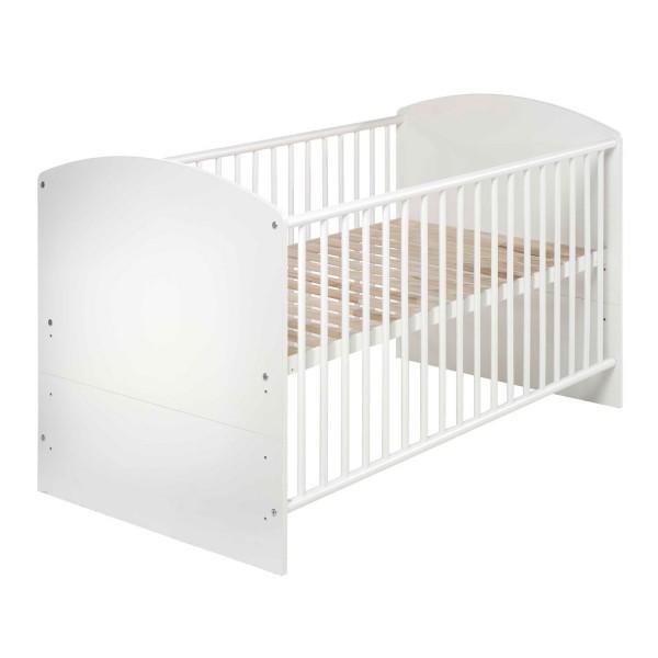 Classic White - Kombi-Kinderbett 70 x 140cm - Dekor Weiß