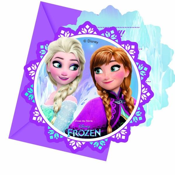 Einladungskarten Frozen 6 Stück
