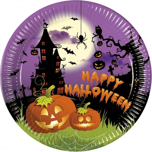 Pappteller Halloween 8 Stück Ø 23cm