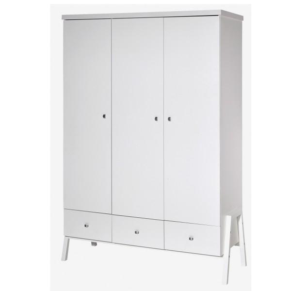 Holly White - Kleiderschrank 3-türig - Dekor weiß