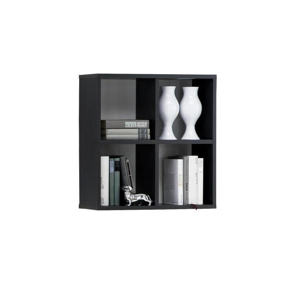 Wandregal Ken - klassisches Design - perfekte Aufteilung - Anthrazit