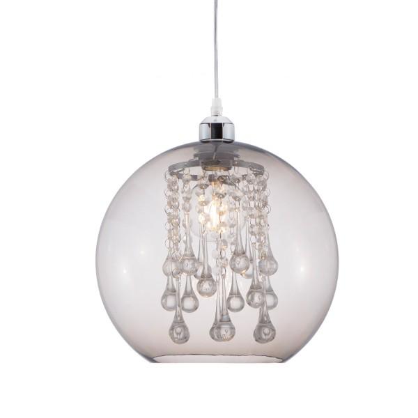 Bubble - Pendel 1-flammig - chrom - Kunststoff rauch Grau - Deko